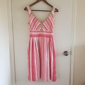 Anthropologie Postmark Poppy Striped Dress
